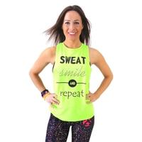 Koszulka damska, top, taniec, fitness SMILE zielona 2skin