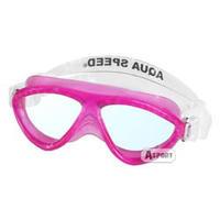 Gogle do pływania dziecięce CURRENT JR różowe Aqua-Speed