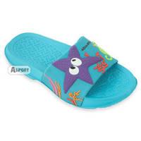Dziecięce klapki basenowe STAR niebieskie Aqua-Speed