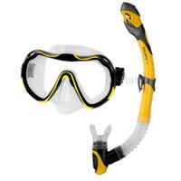 Fajka + maska nurkowa, dla dorosłych, dla młodzieży JAVA + ELBA żółty