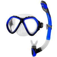Fajka + maska nurkowa, dla dorosłych, dla młodzieży ZONA + ELBA blue Aquaspeed