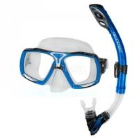Maska + fajka nurkowa ELEA + RIO niebieska Aqua-Speed
