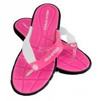 Klapki damskie, na basen, na plażę BALI różowo-czarne Aqua-Speed