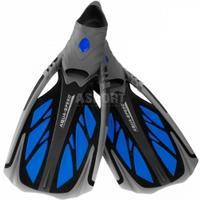Płetwy kaloszowe, do snorkelingu INOX niebieskie Aqua-Speed