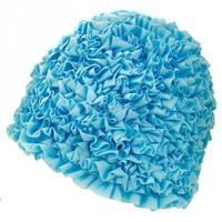 Czepek damski, poliestrowy, z podszewką RUFFLE CAP niebieski Aqua-Speed