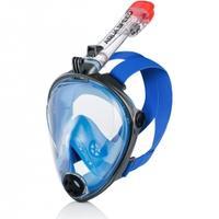 Maska do nurkowania pełnotwarzowa SPECTRA 2.0 szaro-niebieska