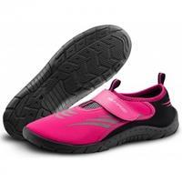 Buty do pływania Obuwie na basen różowo-czarne Aqua Speed