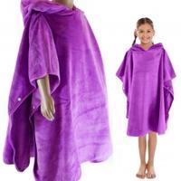 Ręcznik - poncho z mikrofibry KIDS PONCHO 80x70cm fioletowe Aqua Speed