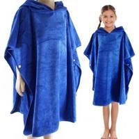 Ręcznik - poncho z mikrofibry KIDS PONCHO 70x60cm granatowe Aqua Speed