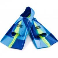 Płetwy treningowe, silikonowe, krótkie niebiesko-zielone Aqua-Speed