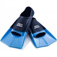 Płetwy treningowe, silikonowe, krótkie Aqua-Speed granatowo-niebieskie