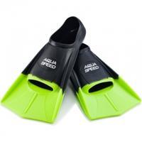 Płetwy treningowe, silikonowe, krótkie Aqua-Speed czarno-zielone