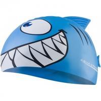 Czepek dziecięcy z nadrukiem SHARK rekin jasnoniebieski Aqua-Speed