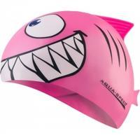 Czepek dziecięcy z nadrukiem SHARK rekin różowy Aqua-Speed
