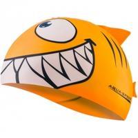 Czepek dziecięcy z nadrukiem SHARK rekin pomarańczowy Aqua-Speed