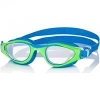Okulary dziecięce, pływackie MAORI zielono-niebieskie Aqua-Speed