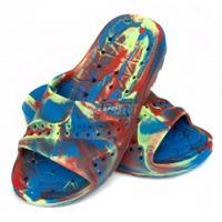 Klapki basenowe, dla dzieci, na plażę PATMOS niebiesko-czerwone Aqua-Speed