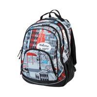 Plecak szkolny FLOW 26l szaro-czarny + nadruk Easy