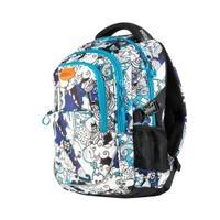 Plecak szkolny FLOW 26l biało-niebieski Easy