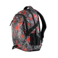 Plecak szkolny 26l sportowy szaro-czerwony Easy
