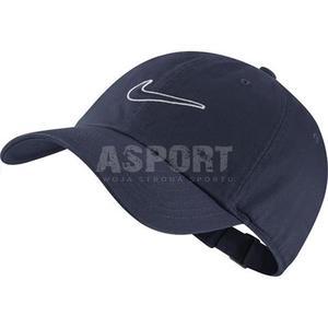Sportowa, turystyczna czapka z daszkiem ESSENTIAL SWOOSH granatowa Nike