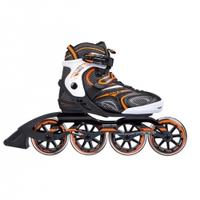 Łyżworolki do jazdy szybkiej NA1060 S czarno-pomarańczowe Nils