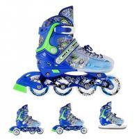 Łyżworolki z wymienną płozą hokejową NH18122 4w1 niebieskie Nils