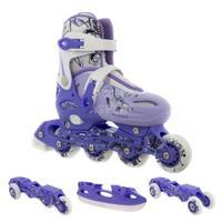 Łyżworolki + łyżwy + wrotki 4w1, łyżworolki dziecięce NH0320A purple