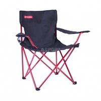 Krzesło turystyczne, wędkarskie, składane ANGLER czarno-czerwone Spokey