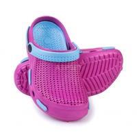 Dziecięce klapki basenowe, chodaki FLIPER różowo-niebieskie Spokey