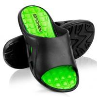 Klapki basenowe męskie LIDO czarno-zielone Spokey