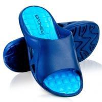 Klapki basenowe męskie LIDO granatowo-niebieskie Spokey