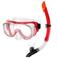 zestaw do nurkowania maska + fajka LUZON czerwony Spokey