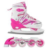 Łyżworolki + łyżwy, 2w1, regulowane, płoza figurowa Sportvida
