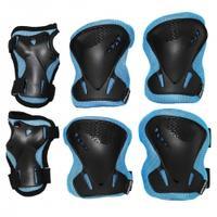 Ochraniacze dziecięce na nadgarstki, łokcie, kolana 3pack czarne SV-KY0005
