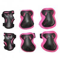 Ochraniacze dziecięce na nadgarstki, łokcie, kolana 3pack czarne SV-KY0006