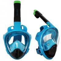 Maska nurkowa pełnotwarzowa z fajką l/xl niebiesko-czarna Sportvida