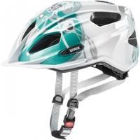 Kask rowerowy QUATRO JUNIOR biało-miętowy Uvex
