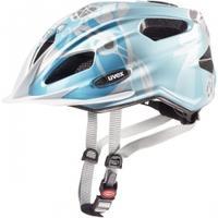 Kask rowerowy QUATRO JUNIOR niebiesko-srebrny Uvex